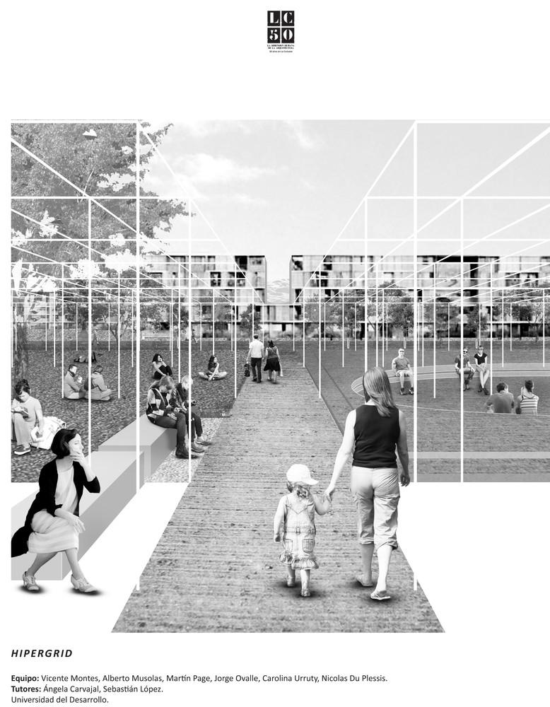 G3: HYPERGRID / Lámina 01. Image Cortesía de Grupo Arquitectura Caliente