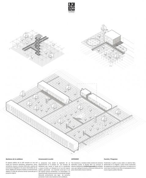G3: HYPERGRID / Lámina 02. Image Cortesía de Grupo Arquitectura Caliente
