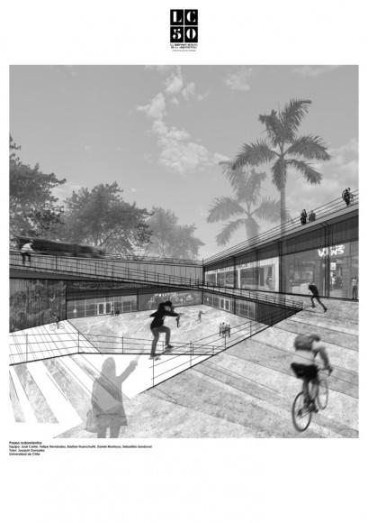 G4: Paseo rodamiento / Lámina 01. Image Cortesía de Grupo Arquitectura Caliente