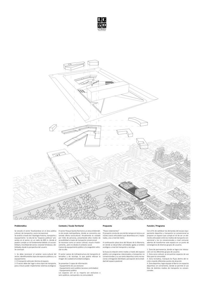 G4: Paseo rodamiento / Lámina 02. Image Cortesía de Grupo Arquitectura Caliente