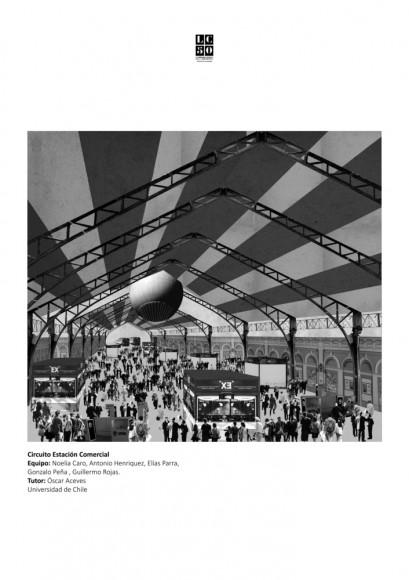 G5: Estación comercial / Lámina 01. Image Cortesía de Grupo Arquitectura Caliente