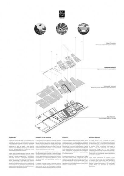 G5: Estación comercial / Lámina 02. Image Cortesía de Grupo Arquitectura Caliente