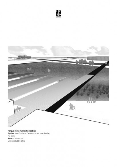 G6: Parque de las ruinas recreativas / Lámina 01. Image Cortesía de Grupo Arquitectura Caliente