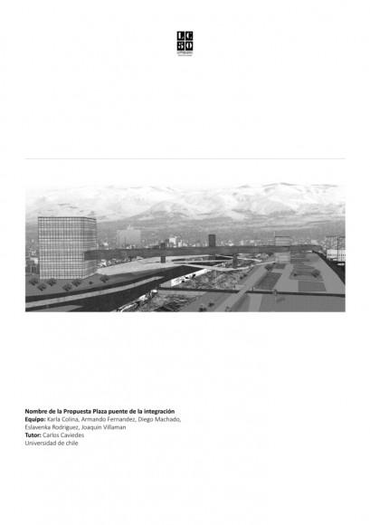 G7: Plaza puente de la integración / Lámina 01. Image Cortesía de Grupo Arquitectura Caliente