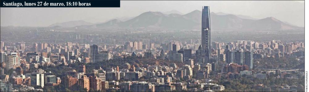 Santiago contaminacion atmosferica