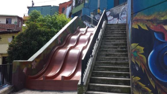 Comuna 13, Medellín. Imagen: Rodrigo Díaz, 2015