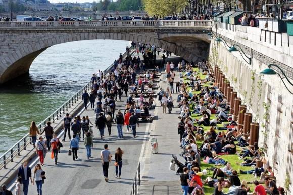 Inauguración de 2,5 km en la ribera sur del Sena. © Henri Garat