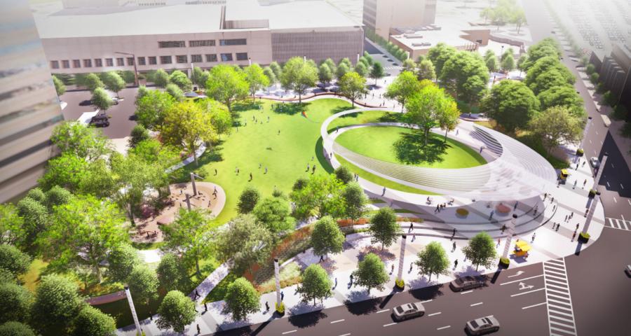 """Proyecto """"Pacific Plaza"""", en Dallas. © SWA Group"""